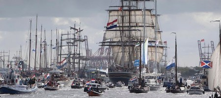 Salonboot sloep huren Sail Amsterdam 2020