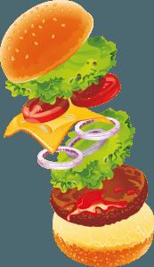 Hamburger arrangement Build your own burger Salonboot Avanti Amsterdamse grachten
